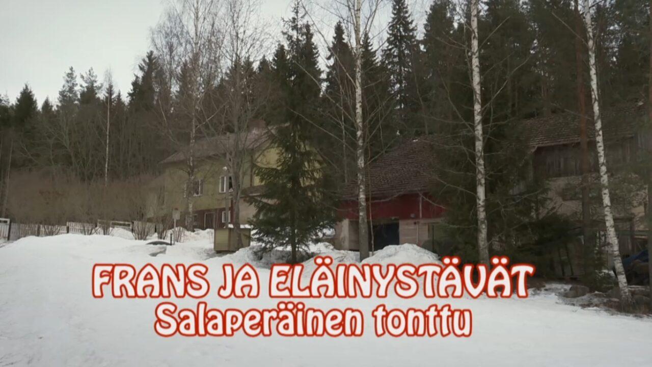 Talvinen pihapiiri, päällä videon nimi tekstinä.