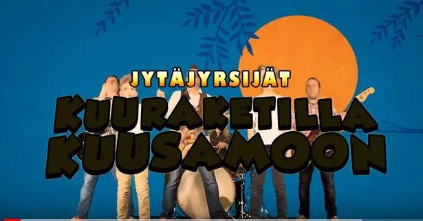 Ihmishahmoja taustalla ja päällä videon nimi suomeksi.