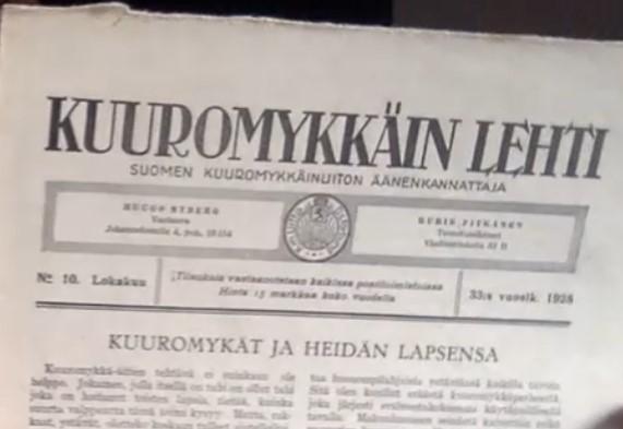 Kuuromykkäin lehden kansi.