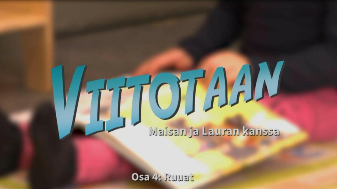 Utuinen kuva lapsen sylissä olevasta avoimesta kuvakirjasta, päällä videon nimi tekstinä.